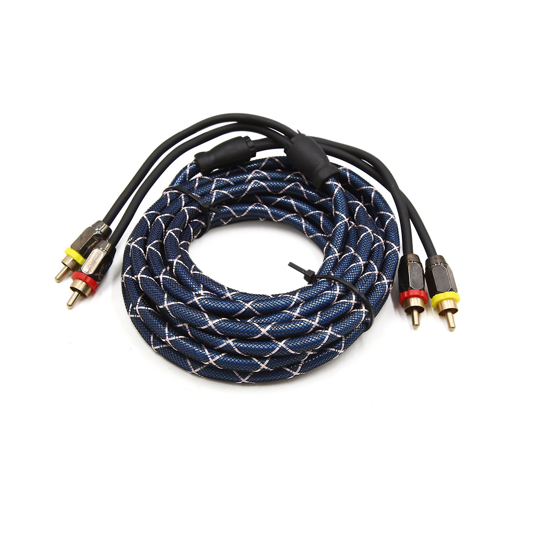 4.5-5m Faux Snakeskin Connector Adaptor Car Stereo Audio Cord Extension Cable