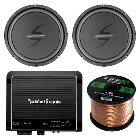 Car Sub & Amp Package Of 1 Pair of Lightning Audio By Rockford Fosgate L0S412 12