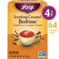 (Pack of 4) Yogi Tea, Soothing Caramel Bedtime Tea, Tea Bags, 16 Ct, 1.07 OZ