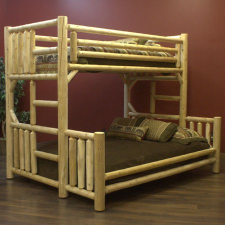 Lakeland mills twin over queen bunk bed 2 twin beds make a queen