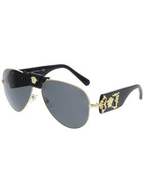 626dc7f36881 Product Image Versace Men s Mirrored VE2150Q-100287-62 Gold Aviator  Sunglasses