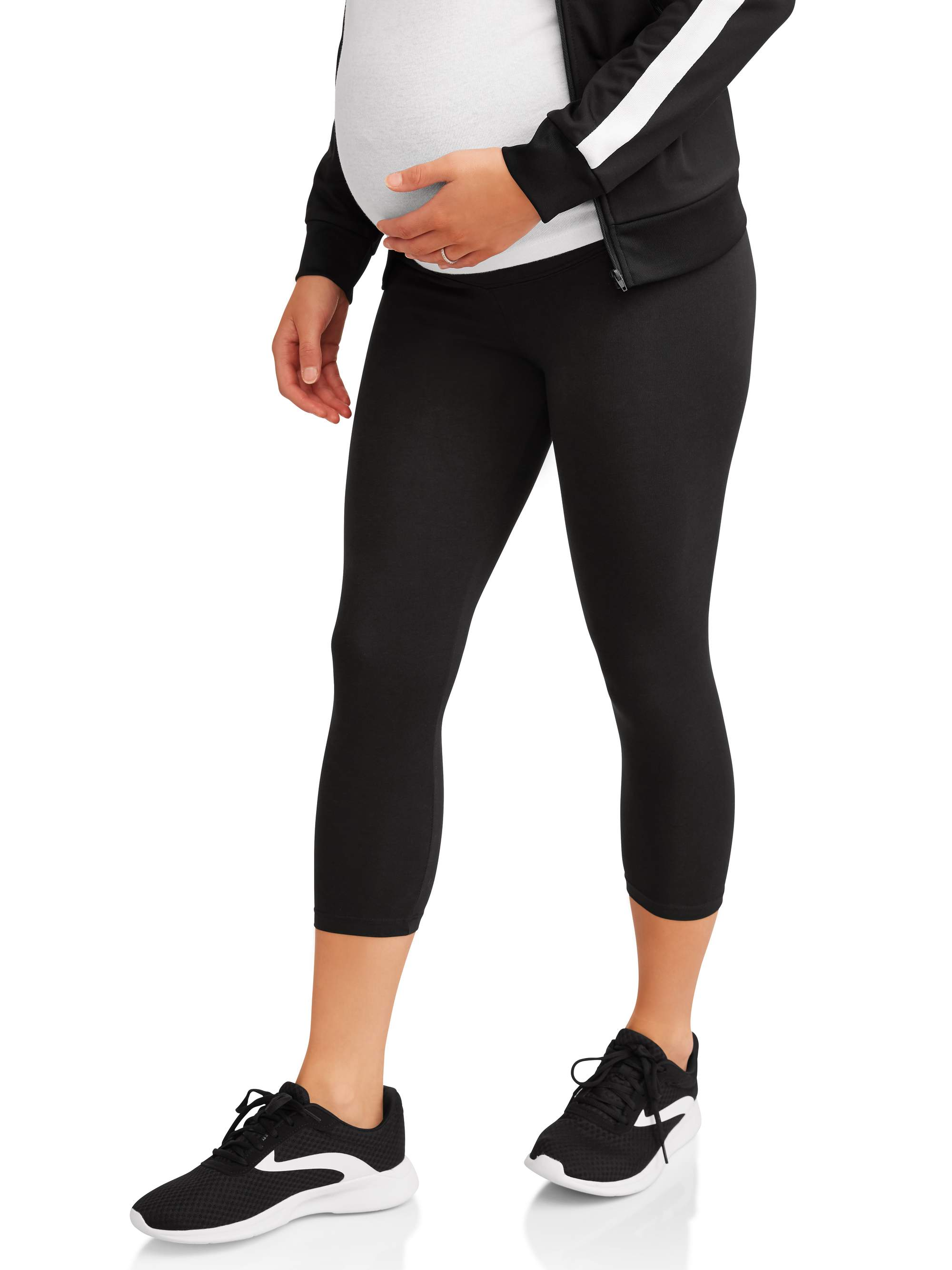 Maternity Overbelly Pullon Crop Knit Legging by Generic