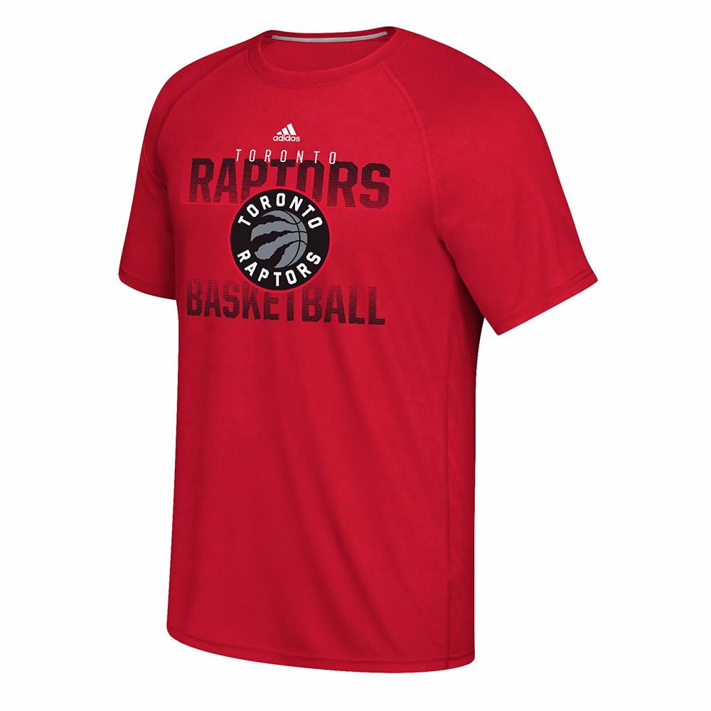 "Toronto Raptors NBA Adidas Red ""Fade Away Nation"" Ultimate Climalite Performance Short Sleeve T-Shirt For Men"