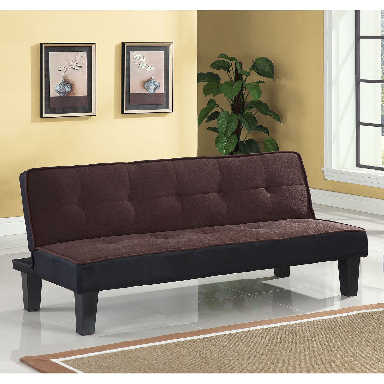 Acme Furniture Hamar Flannel Futon Sofa, Multiple Colors
