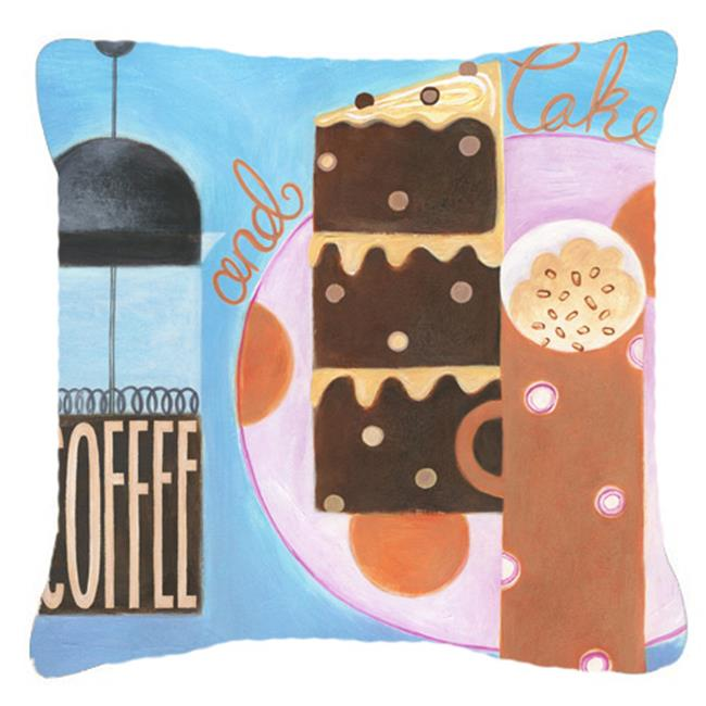 Carolines Treasures BCBR0116PW1414 Kitchen Collection Coffee & Cake Canvas Decorative Pillow - image 1 of 1