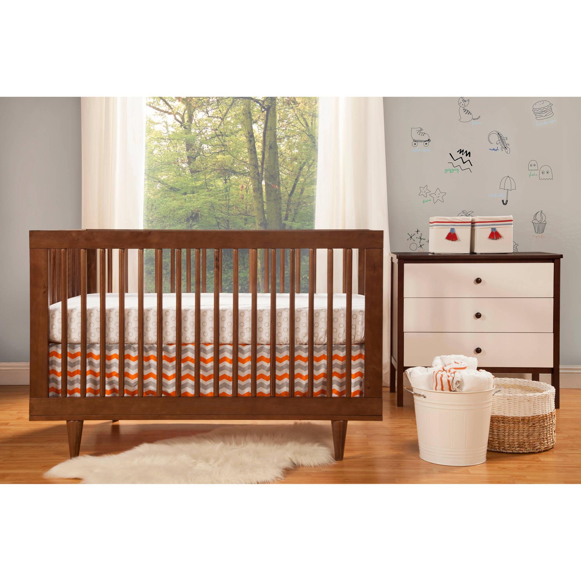 Beautiful Baby Mod Marley 3 In 1 Convertible Crib Walnut   Walmart.com