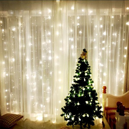 tsv 98ft98ft shiny xmas string 300 led warm light fairy wedding curtain