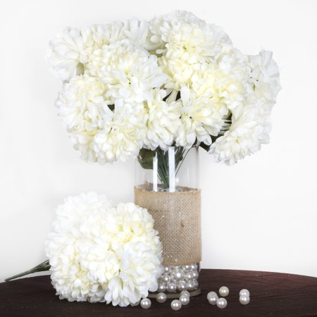 Balsacircle 56 large chrysanthemum mums balls silk flowers diy balsacircle 56 large chrysanthemum mums balls silk flowers diy home wedding party artificial bouquets arrangements centerpieces walmart mightylinksfo
