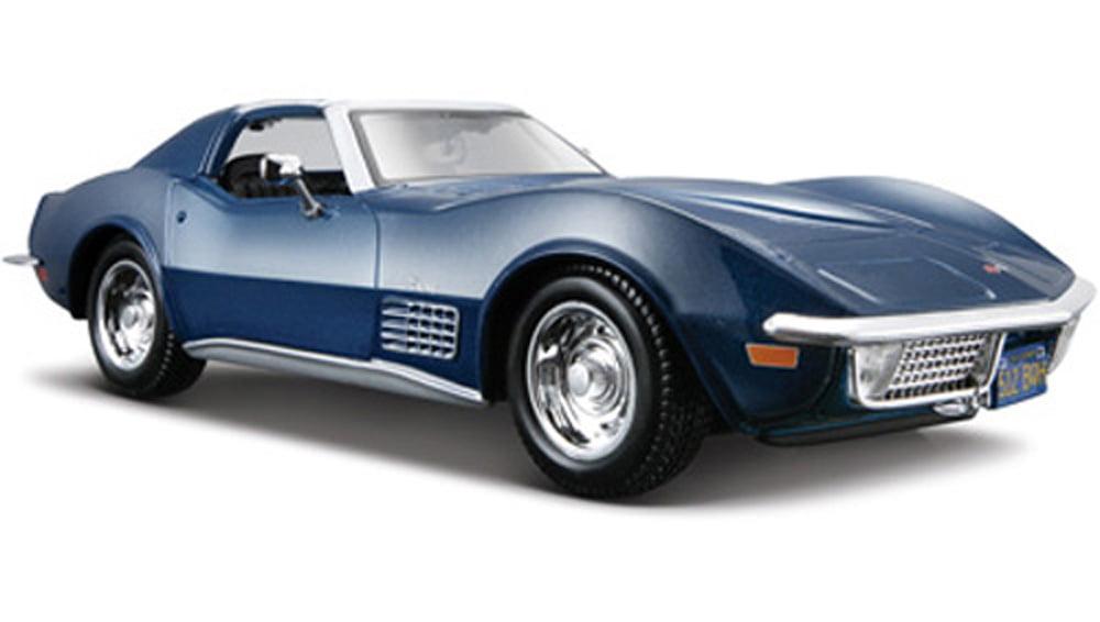 1970 Chevy Corvette T-Top, Blue Maisto 31202 1 24 Scale Diecast Model Toy Car by Maisto