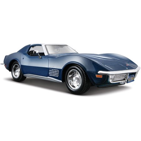 1970 Chevy Corvette T-Top, Blue - Maisto 31202 - 1/24 Scale Diecast Model Toy (1970 Chevy Corvette)