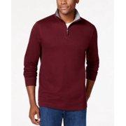 Tasso Elba NEW Port Red Mens Size XL 1/2 Zip Contrast Mock Neck Sweater