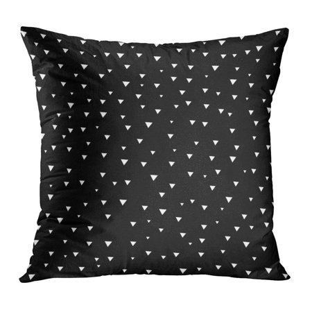 ECCOT Small White Triangle Shaped Polka Dots of Different Sizes Black Random Simple Abstract Big Pillow Case Pillow Cover 20x20 inch