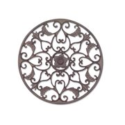 Open Leaf Medallion in Wrought Iron Finish