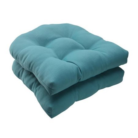 Forsyth Turquoise Wicker Seat Cushion (Set of 2)
