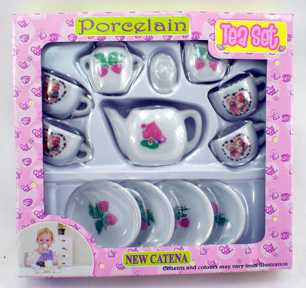 Real Porciline Ceramic Tea Set (color Of Graphic Will Vary)