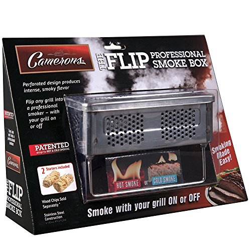 BBQ Smoker Box For Hot and Cold Smoke Stainless Steel Barbecue Smoke Box Includes 2 Fire Starters To Easily Infuse Smoky Flavor with Your... by