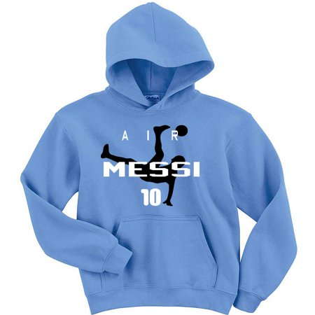 Carolina Lionel Messi Argentina Air Messi Youth Large Hooded (Carolina Blue Hood Sweatshirt)