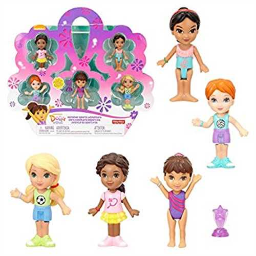 Dora And Friends Summer Sports Adventure Figure Pack, Play Set Set of 5 Sports Figures by