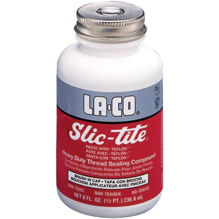 Markal Slic Tite Paste - Markal Slic-Tite Paste Thread Sealants w/ PTFE, 1/2 qt Bottle, White