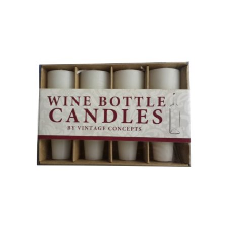 PlaceTile Designs Wine Bottle Candles, White - Beer Bottle Candles
