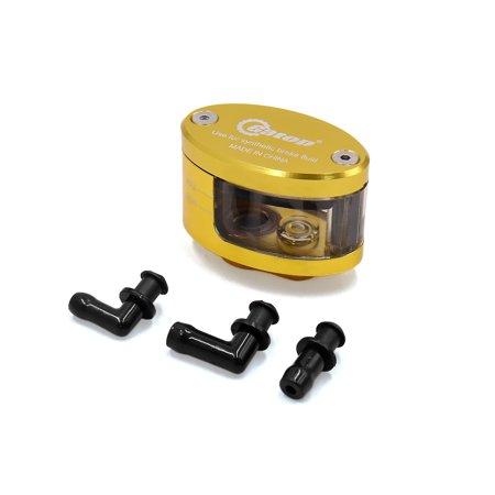 Gold Tone CNC Front Brake Clutch Master Fluid Reservoir Oil Cup for Motorcycle (Motorcycle Break Reservoir)