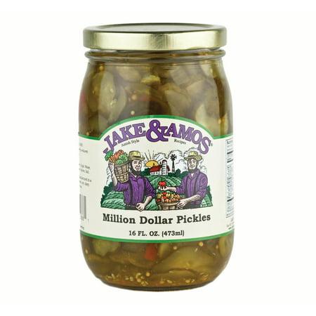 Jake & Amos Pickled Pickles (Jake & Amos Million Dollar Pickles 16 oz. (3 Jars))
