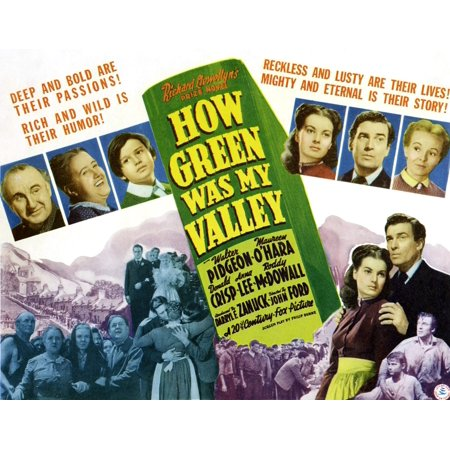 How Green Was My Valley Maureen OHara Walter Pidgeon Donald Crisp Sara Allgood Roddy Mcdowall Anna Lee 1941 Tm And Copyright 20Th Century-Fox Film Corp All Rights Reserved Movie Poster Masterprint
