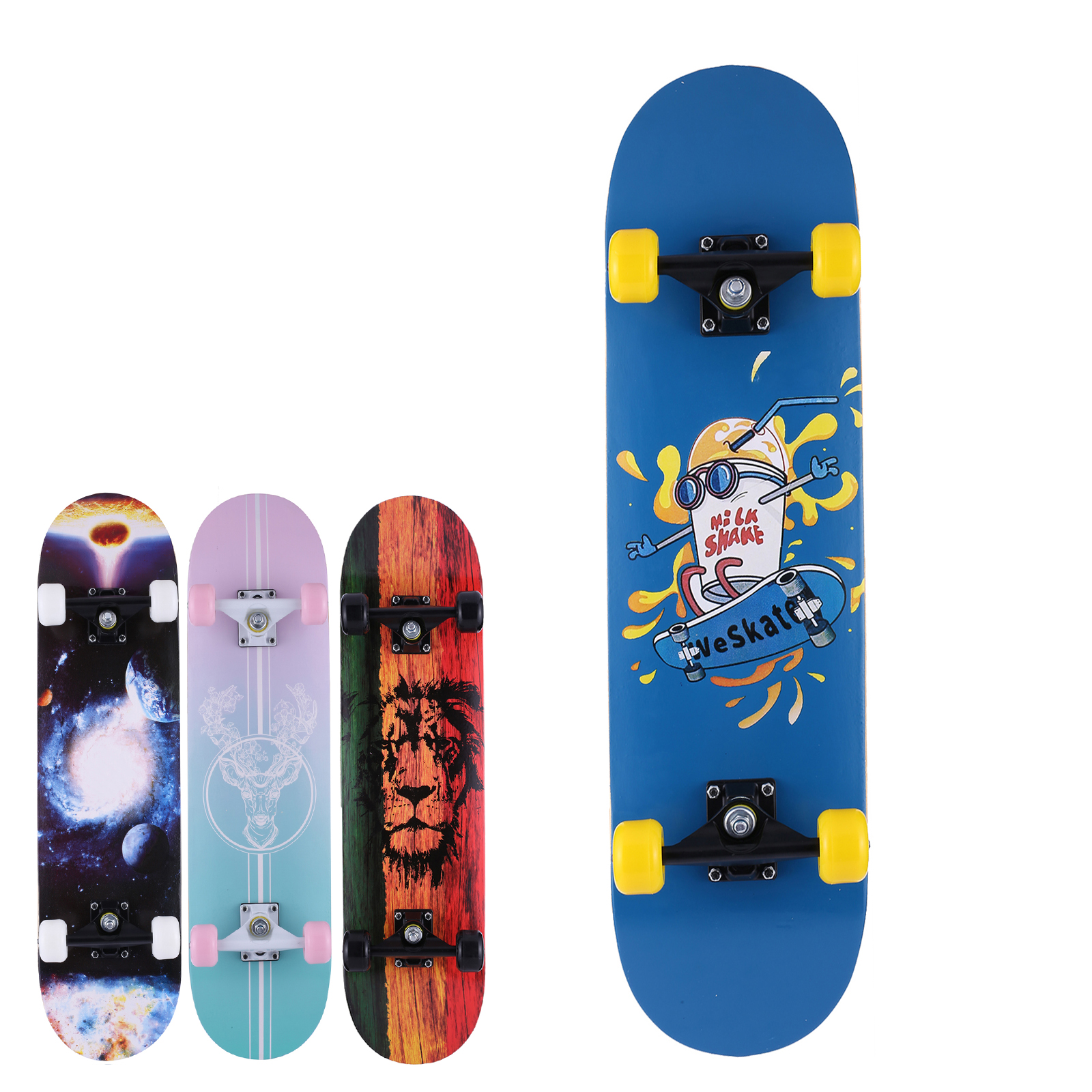Details about  /Complete Skate Boards Skateboard for Beginners Teens Girls Boys Load 220lbs+LED/_