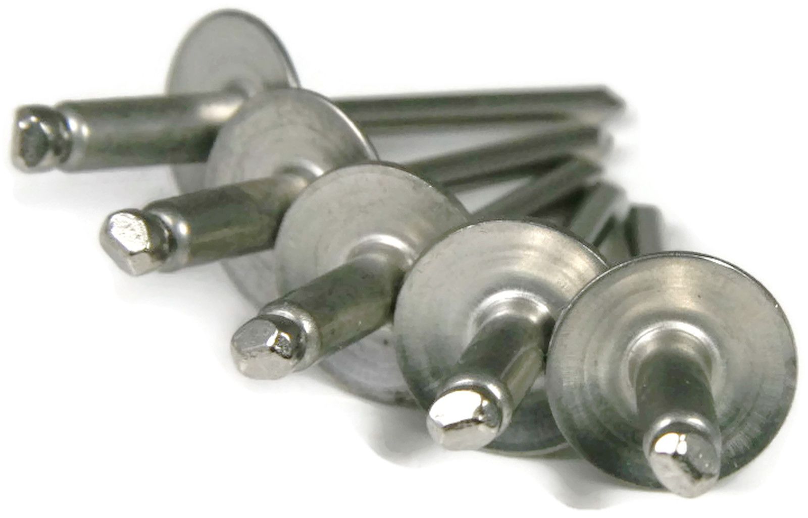 3//8-1//2 Grip Range 25pc #68 Large Flange Aluminum Rivets All Aluminum 3//16 Diameter