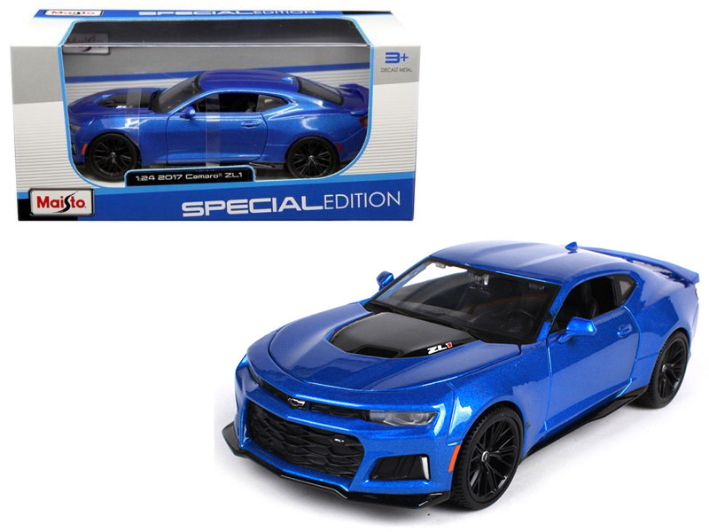 2017 Chevrolet Camaro ZL1 Blue 1 24 Diecast Model Car by Maisto by Maisto