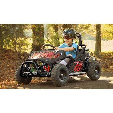 Monster Moto Classic Go Kart 80cc Black - Walmart com