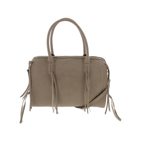 Urban Expressions Womens Baxter Vegan Leather Satchel Handbag Taupe (Urban Expressions Flap)