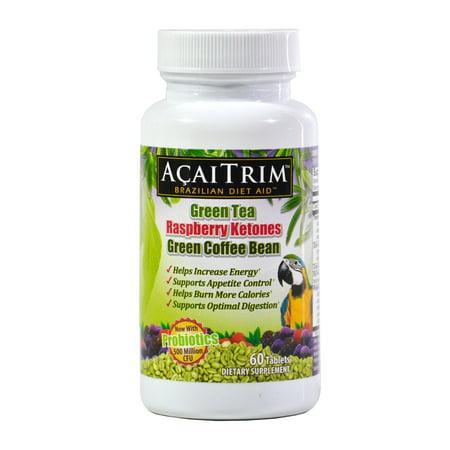 AcaiTrim Brazilian Diet Aid Appetite Suppressant and Fat Burner, Tablets, 60 Ct.
