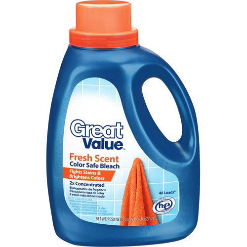 Great Value Fresh Scent Color Safe Bleach, 2.06 Qt