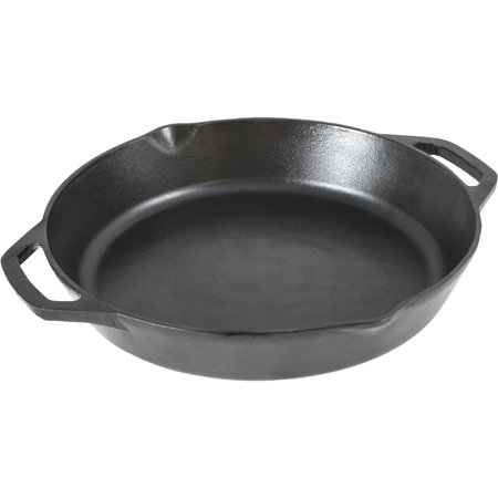 Lodge 12 Seasoned Cast Iron Dual Handle Pan, L10SKL, 12 Inch Diameter