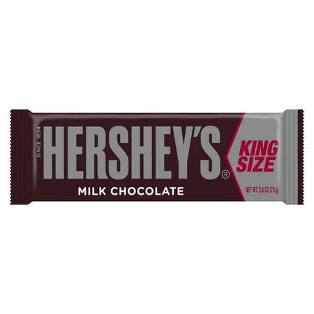 Hershey's Milk Chocolate Candy Bar King Size, 2.6 Oz. ()
