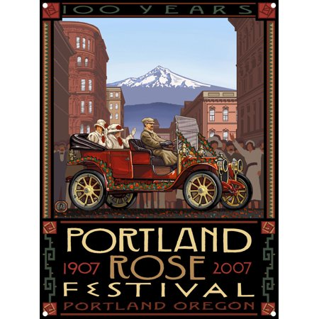 Portland Oregon Rose Festival 100th Anniversary Metal Art Print by Paul A. Lanquist (9