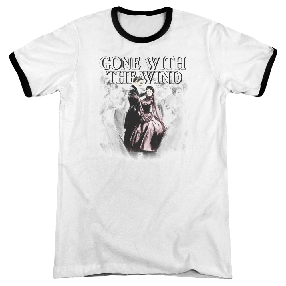 Gone With The Wind Dancers Mens Adult Heather Ringer Shirt