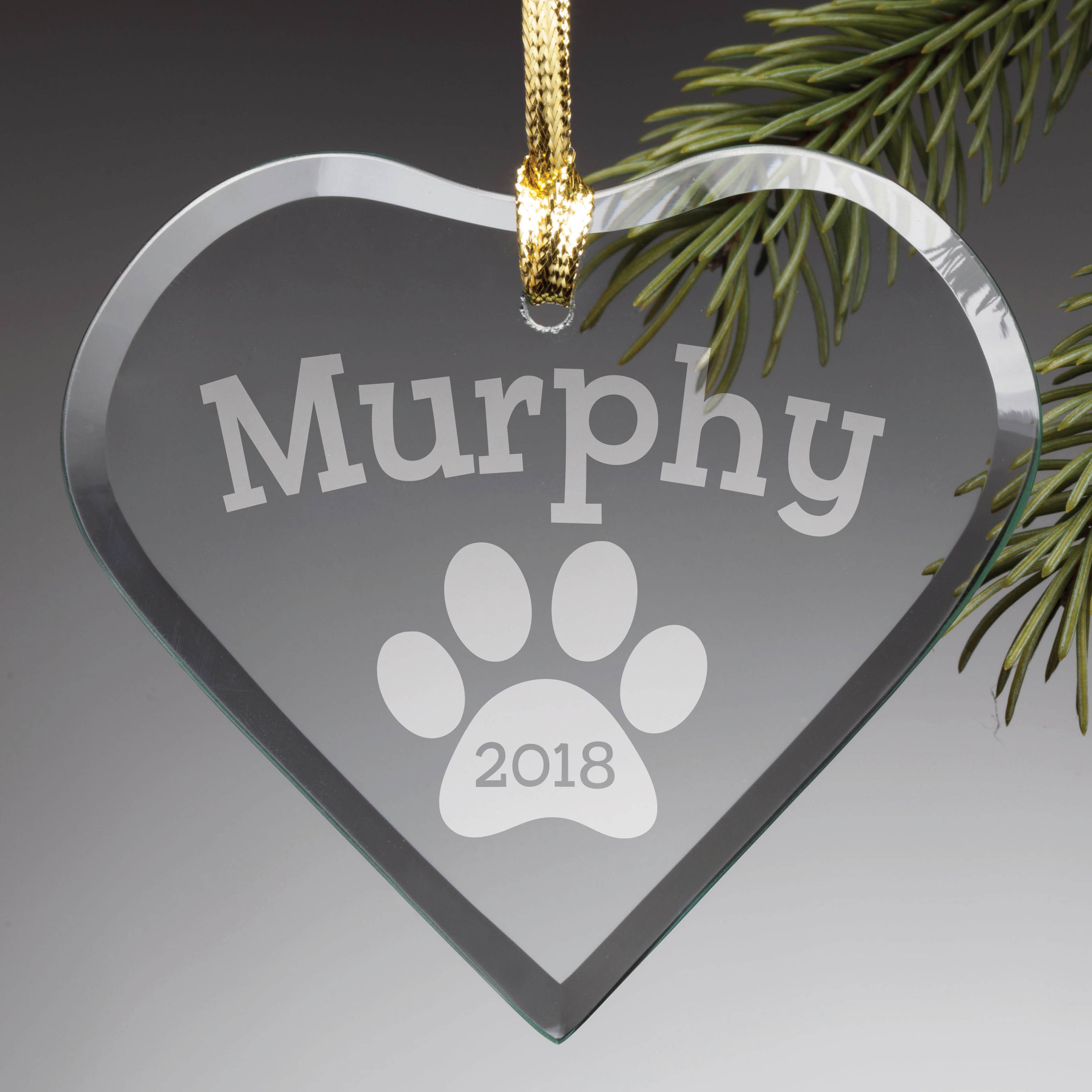 Personalized Glass Christmas Ornament - Special Dog