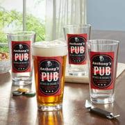 Personalized Pub Tavern Pub Glass, Individual