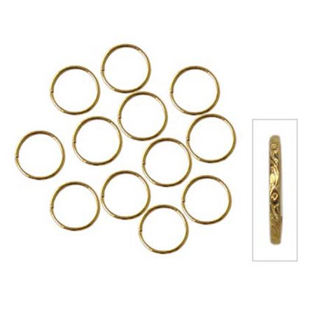 144 Pattern (Scroll Pattern Wedding Ring - Gold - 3/4 inches - 144 pieces - Big)