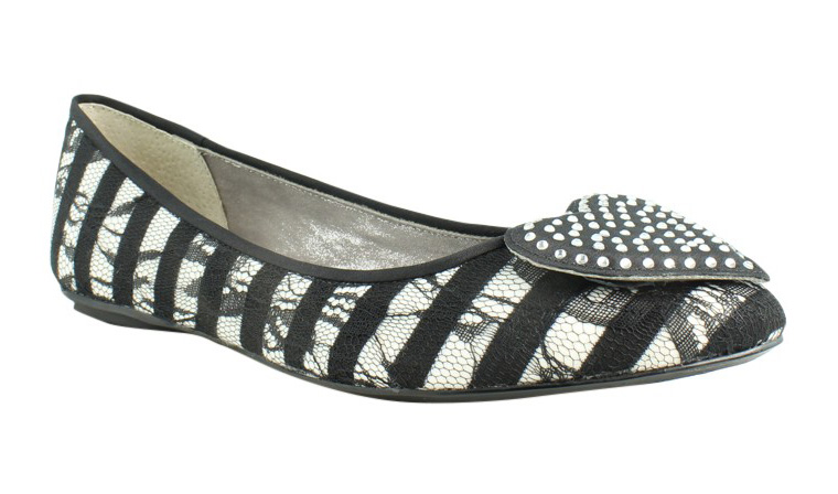 J. Renee Womens Black White Ballerinas Flats Size 7 New by J. Renee