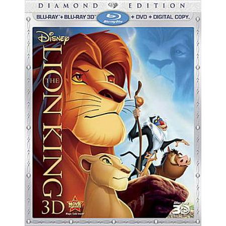 The Lion King 3D (Diamond Edition) (Blu-ray 3D + Blu-ray + DVD) (The Lion King 3d Diamond Edition Blu Ray)