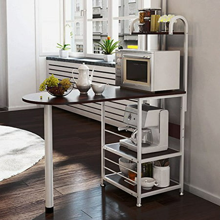 magshion kitchen island metal dining baker cabinet basket storage