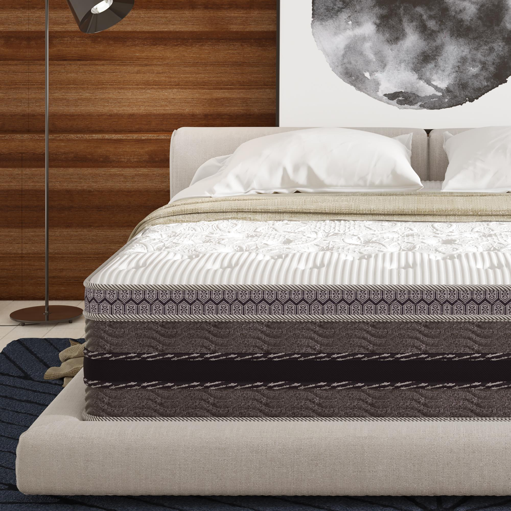 Signature Sleep Justice 14 inch Independently Encased Coil and Gel Memory Foam Mattress