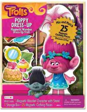 Bendon Trolls Poppy Dress-Up Magnetic Wooden Mix and Match Dress Up by Bendon Publishing