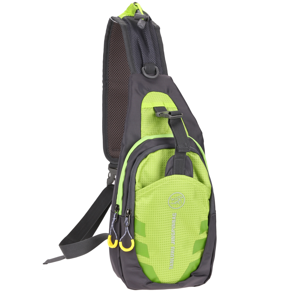 Chest Bag Outdoor Sport Travel Shoulder Sling Backpack Pouch(Green)