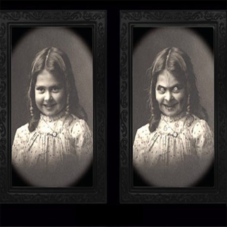 Haunted Halloween Portraits (Horror Picture Frame Lenticular 3D Changing Face Scary Portrait Haunted)