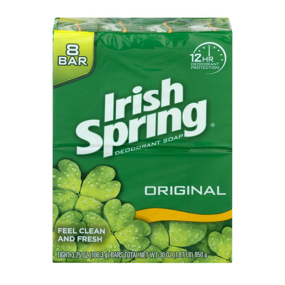 Irish Spring Deodorant Bar Soap, 3.75 oz, 8 ct - Walmart.com