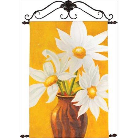 Ouvriers du bois et tisserands IOCAGD Golden Daisies peints - la main huile sur toile verticale 29,5 x 42 po. - image 1 de 1